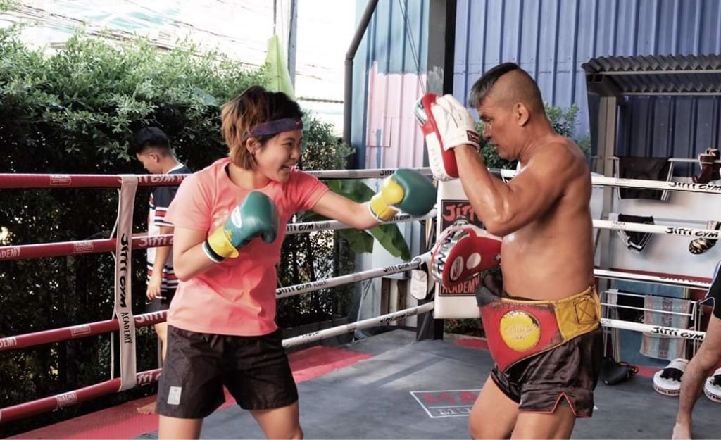 Master Jitti teaching Muay Thai